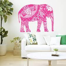 Om Wall Decal Mandala Vinyl by Aliexpress Com Buy Wall Decal Vinyl Sticker Indian Elephant