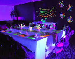 glow in the party decorations threelittlebirds events neon glow in the birthday party