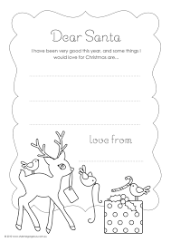 santa letter coloring page in omeletta me