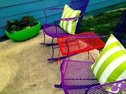 painting outdoor furniture backyard landscape design