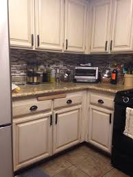 Kitchen No Backsplash by Oak Cabinet Redo My Kitchen Was Typical 90s Oak With White Tile
