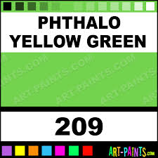 phthalo yellow green finest artists watercolor paints 209