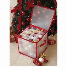 Christmas Ornament Storage Staples by Christmas Tree 64 Bauble Decorations Storage Box Brand New By Tjm