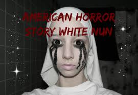 white nun american horror story halloween makeup tutorial youtube