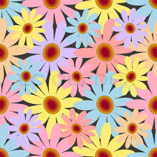 floral wrapping paper baby and kids style abstract background retro seamless pattern