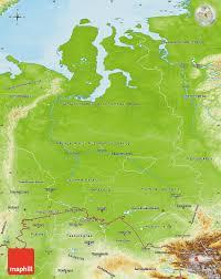 Russia Physical Map Physical Map by Physical Map Of Western Siberia