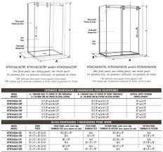 Cw Shower Doors by Fleurco Kinetik Symmetry Shower Enclosures Two Sided