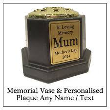 Memorial Vases For Graves Uk Personalised Memorial Vase Ebay
