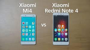Xiaomi Indonesia Xiaomi Mi4 Vs Xiaomi Redmi Note 4 Indonesia Test