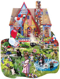 4th of july home decorations jigsaw puzzles home on the 4th of july 1000 piece shaped puzzle
