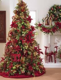 Christmas Tree With Gold Decorations Decorating Christmas Tree With Deco Mesh Home Design Inspirations