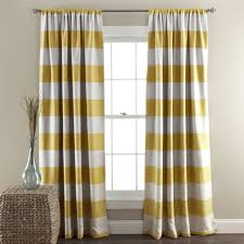 Yellow Window Curtains Stripe Blackout Window Curtain Set Lush Decor Www Lushdecor