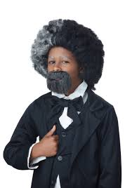 lawyer halloween costumes child frederick douglass wig and goatee