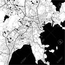 Phuket Thailand Map Phuket Thailand Monochrome Map Artprint Outline Version Ready