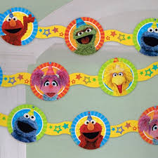 elmo party supplies sesame elmo party supplies die cut paper garland banner