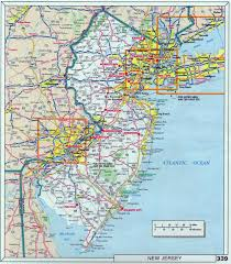 Michigan Map With Cities large roads and highways map of new jersey state with cities
