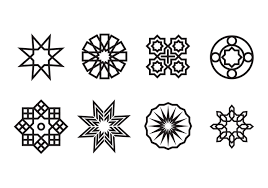 geometric islamic ornaments vector free vector