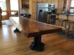 handmade live edge dining slab table custom by blowing rock