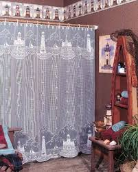 Lighthouse Window Curtains Lighthouse Lace Shower Curtain Prestons