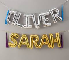 balloon letters balloon letters 16 inch in gold and silver by bubblegum balloons