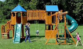 Metal Backyard Playsets Furniture Big Backyard Appleton Wooden Playsets With Swing Set