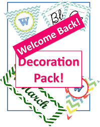 Welcome Back Decorations by Welcome Back Classroom Decor Pack Classroom Caboodle