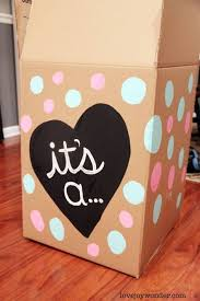 balloons in a box gender reveal pink and blue gender reveal diy painted party balloon box for