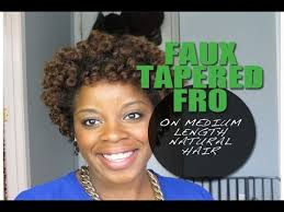 mid length tapered 4c hair faux tapered fro on medium length natural hair youtube