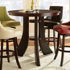 small espresso dining table stylish round espresso dining table within crown mark camelia glass