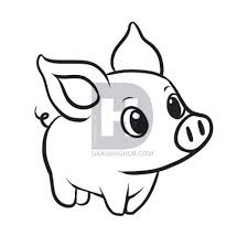 how to draw a simple pig step by step drawing guide by