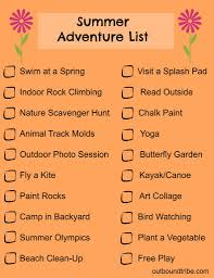 summer outdoor printable activity list outbound tribe