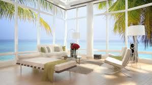 modern interior home design living room blue sofa decor modern interiors 4k hd wallpapers sea
