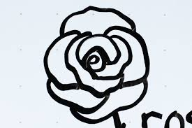 design flower rose drawing 21 kids tutorial how to draw a flower rose c in 2 minutes