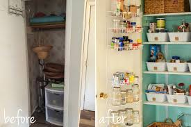 Coat Closet by Natalie Creates From A Coat Closet To A Pantry Our Pantry Remodel
