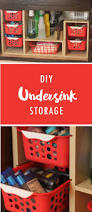 do the cabinets under your sink frequently become cluttered and