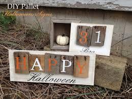 spooky halloween signs chalkboard blue crafts