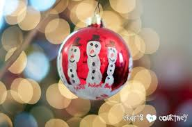 easy to make handprint snowmen ornament