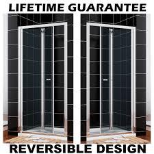 bifold shower door glass screen 700 760 800 860 900 1000mm next