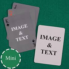 playing card template to customize front and back