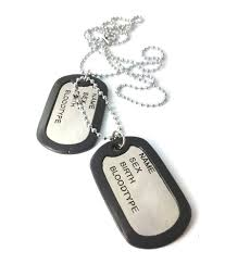 Dog Tag Necklace Custom Sale Mens Ammvi Creations Electro Polished Classic Duo Pendant Dog