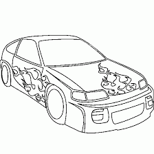 coloring pages of flames cars and vehicles coloring car flames door coloring page