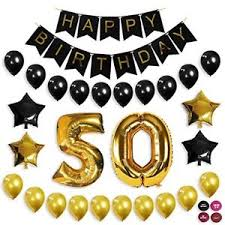 50th birthday party supplies 50th birthday decorations balloon banner 50th party supplies