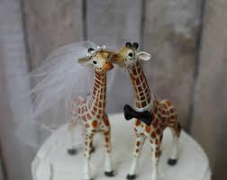 giraffe family wedding cake