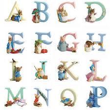 beatrix potter alphabet letters characters enesco border arts
