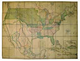 Show Map Of The United States by Graham Arader The First Map To Show The Full East West Extent Of