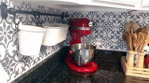 kitchen with backsplash pictures paint a worthy faux tile kitchen backsplash stencil