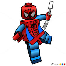 draw spider man lego super heroes