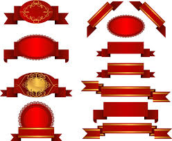 decorative ribbons decorative ribbons and badges vector free stock vector