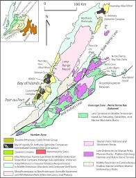 Newfoundland Map The Sole Of An Ophiolite The Ordovician Bay Of Islands Complex