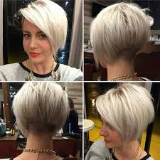 asymmetric fine hair bob hairstyle over 40 for round face for 2015 45 trendy short hair cuts for women 2018 popular short hairstyle